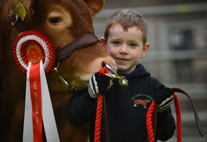 Paul Loughran with his first prizewinning Bull Calf