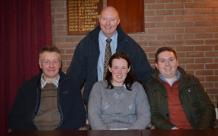 Newly elected for their terms in office are Club Chairman Henry Savage and Committee Members Derek Bell, Christine Loughran and Paul Rainey