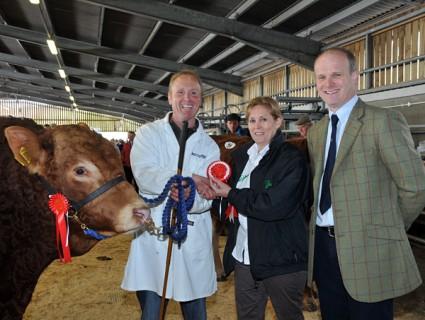 Championship Presentation with (l-r) Mark Quick, Dalton's Janette Bickley and Judge Stephen Illingworth