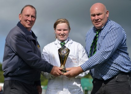 Orla Curtin Junior 1st with YLBC President James Cooper & ILCS President Kevin Bohan