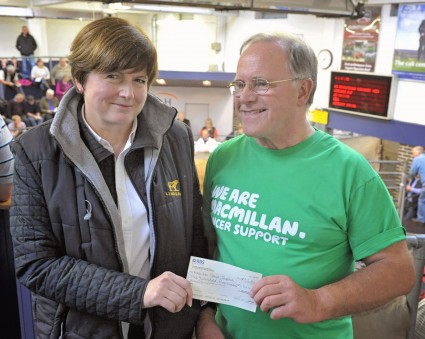 Sue McKeen with a representative from MacMillan Cancer Support