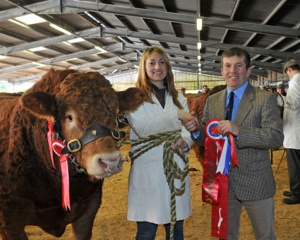 Supreme Champion Mynach Harlequin with Nia Griffiths & Judge Colin Phillips