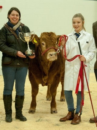 Kay Adam, YLBC President (left) pictured with Young Handlers Overall Champion Ruth Hamill
