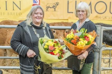 Presentation to NW Limousin Club Secretaries Helen Horn & Judy Dodd