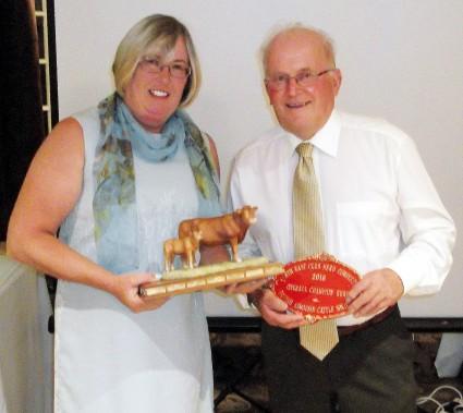 Judge Mary Reynolds & winner Jim Bloom